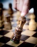 Диаграмма падения шахмат короля Стоковая Фотография