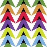 Диаграмма покрашенных треугольников Стоковые Изображения RF