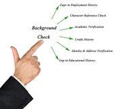 Диаграмма проверки сведений Стоковые Фото