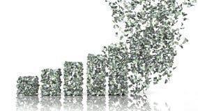 Диаграмма роста от банкнот евро Стоковые Изображения RF