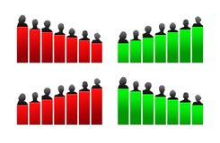 Диаграмма, оценка и рационализаторство роста бесплатная иллюстрация