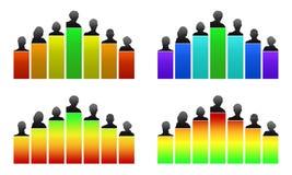 Диаграмма, оценка и рационализаторство роста иллюстрация вектора