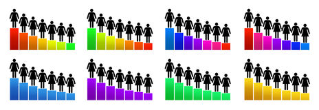 Диаграмма, оценка и рационализаторство роста иллюстрация штока