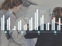 Диаграмма роста статистик отчет о НИР анализа данных диаграммы Conc Стоковая Фотография