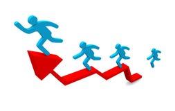 Диаграмма роста Стоковая Фотография