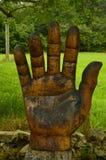 Диаграмма руки на трассе Encantau Camin в совете Llanes Природа, перемещение, ландшафты, леса, фантазия стоковые фотографии rf