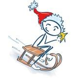 Диаграмма ручки как Санта Клаус с санями Стоковое Изображение RF