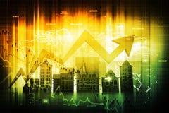 Диаграмма рынка недвижимости иллюстрация вектора
