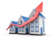 Диаграмма рынка недвижимости Стоковые Фотографии RF