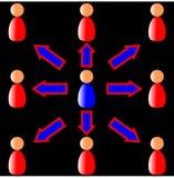 диаграмма сотрудничества Стоковая Фотография RF