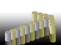 Диаграмма стрелки и монеток Стоковое Изображение RF