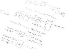 Диаграмма с логически программой Стоковые Изображения RF