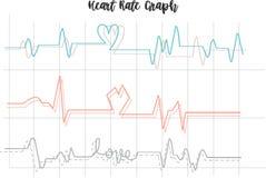 Диаграмма тарифа сердца crated иллюстратором иллюстрация вектора