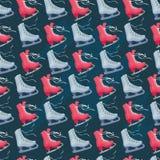 диаграмма текстура безшовных коньков катаясь на коньках Стоковые Фото