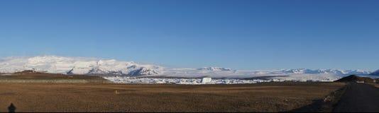 Диаграмма тени Jokulsarlon панорамы Стоковые Изображения RF