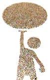 Диаграмма толпы мультфильма, шар бесплатная иллюстрация