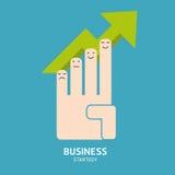 Диаграмма успеха в бизнесе руки Стоковые Фото