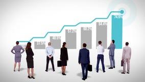 Диаграмма успеха команды дела наблюдая иллюстрация вектора