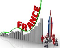 Диаграмма успеха Франции Стоковые Изображения RF