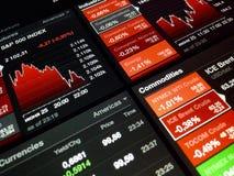 Диаграмма фондовой биржи цифров Стоковое фото RF