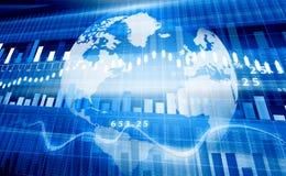 Диаграмма фондовой биржи Стоковое Изображение
