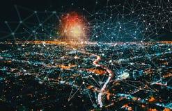 Диаграмма цифров с городским Лос-Анджелесом Стоковые Изображения RF