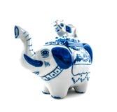 Диаграмма чайник слона Chinaware Стоковые Фотографии RF
