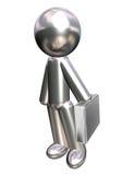 диаграмма человек дела металлический Стоковые Фотографии RF