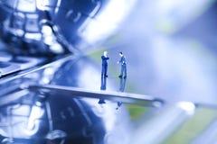 диаграмма человек компьютера сверх Стоковая Фотография RF