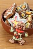 диаграмма человек gingerbread Стоковые Изображения
