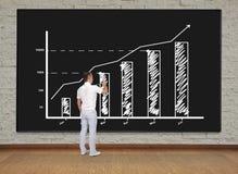 Диаграмма чертежа бизнесмена Стоковые Фотографии RF