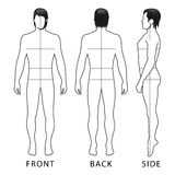 Диаграмма человека моды иллюстрация вектора