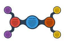 Диаграмма шаблона Metaball красочная круглая Стоковые Фото