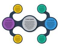 Диаграмма шаблона Metaball красочная круглая Стоковое Фото