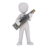 Диаграмма шаржа держа большую бутылку пива бесплатная иллюстрация