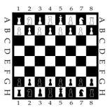 диаграмма шахмат доски бесплатная иллюстрация