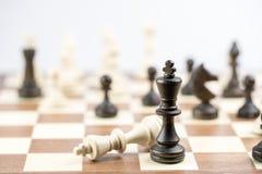 Диаграмма шахмат, стратегия концепции дела, руководство, команда и su Стоковое Фото