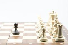 Диаграмма шахмат, стратегия концепции дела, руководство, команда и su Стоковые Изображения