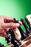 Диаграмма шахмат человека moving Стоковая Фотография RF