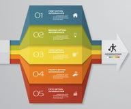 диаграмма элемента Infographics 5 шагов для представления 10 eps Шаблон стрелки для представления дела Стоковое фото RF