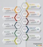 диаграмма элемента Infographics 10 шагов для представления 10 eps Стоковые Фото