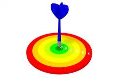 диаграмма эффективности 3D - dartboard Стоковые Фото
