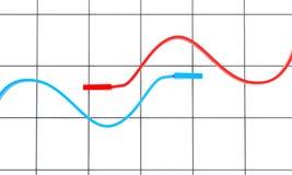 диаграмма 2 предпосылки стрелок Стоковая Фотография RF