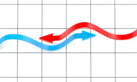 диаграмма 2 предпосылки стрелок Стоковые Изображения