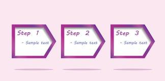 Диаграмма 3 шагов Стоковое Изображение RF