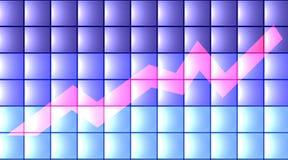 диаграмма 3d плоская Стоковое Изображение RF