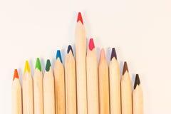 Диаграмма Crayons Стоковая Фотография RF
