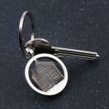 Диаграмма Keychain дома и ключа Стоковое фото RF