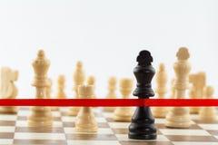 Диаграмма ` s короля пересекая ленту отделки Пастбище дела шахмат Стоковая Фотография RF