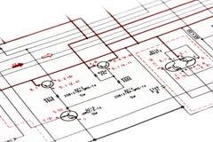 Диаграмма Shematic Стоковые Фотографии RF
